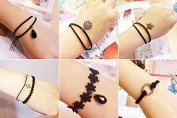 6Pcs Fireboomoon Minimalist fashion bracelets, Bracelet For Girls and Women, 6 Cute Style, Black