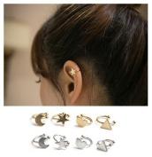 8Pcs Fireboomoon Cute Fake Clip On Earrings, Non Piercing Hoop Earrings, Fake Body Jewellery, Hypoallergenic