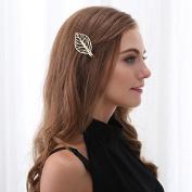 Simple stylish hair or bobby pin leaf design 2