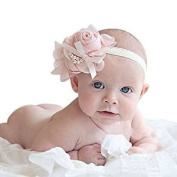 Blazers18 Baby Hair Weave Scarf Lace Pink Flower Girl Baby Accessories