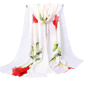 Datework Women Rose Long Soft Wrap Scarf