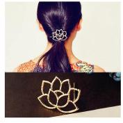 DZT1968 Lotus Retro Styling Hairpin Hair Clips Headdress Flower Hair Accessories