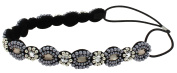 Capelli New York Girls Embellished Headwrap Black Combo One Size