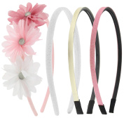 Capelli New York Girls Mixed Designs Headband Set Pink Combo One Size