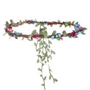 AWAYTR New Brand Leaf Berry Headband Woman Girl Wedding Floral Crown Hair Accessories Garland