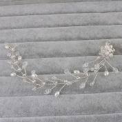 Bridal Headband Alloy Pearl Wedding Bridal Silver Headband Hair Vine Hairpiece