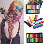 SHERUI Hair Chalks - 24 Non Toxic Temporary Hair Dye Colour Soft Pastels