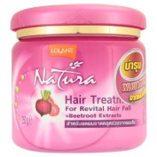 New Lolane NATURA HAIR TREATMENT WITH BEETROOT EXTRACTS FOR REVITAL HAIR FALL 250 G.