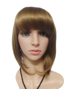 JoySusie Blonde Short Straight Wig Glamorous Women Short Straight Wig with Free Wig Cap and Wig Comb -- Blonde