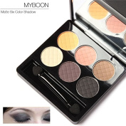 Ziaxa(TM) MYBOON Makeup Matte Collection 6 Colours Eyeshadow Professional Natural Naked Nudes Eye Shadow Palette
