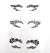 Halloween Make Up Black Fabric Eye shadow Tattoo Sticker Reusable Eye Decoration Stickers