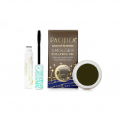 Pacifica Aquarian Gaze Water-Resistant Mascara (Abyss) & Pacifica Smoulder Eye Lining Gel (Tahitian Pearl) Bundle with Vitamin B and Coconut, .25 l oz Mascara and 210ml Gel