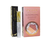 Pacifica Sundreams Lotus Infused Bronzer Duo & Pacifica Stunning Brows Eyebrow Gloss and Set (Golden Brown) Bundle with Coconut, Kep and Sunflower Oil, .300ml Powder .740ml Mascara