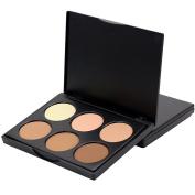 Sungpunet 6Colors Makeup Contour Kit Highlight and Concealer Foundation Cream Palette