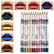 SHERUI 12 pcs makeup Professional Waterproof Lipliner Pencil Set