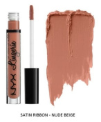 SEOWTOYS Factory Sealed NYX Lip Lingerie Liquid Matte Lipstick Shade Satin Ribbon Nude Beige