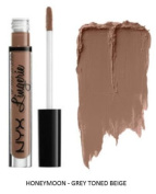 SEOWTOYS Factory Sealed NYX Lip Lingerie Liquid Matte Lipstick Shade Honeymoon Grey Toned Beige