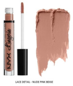 SEOWTOYS Factory Sealed NYX Lip Lingerie Liquid Matte Lipstick Shade Lace Detail Nude Pink Beige
