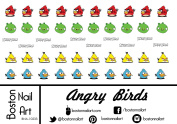 Angry Birds - Waterslide Nail Decals - 50pc