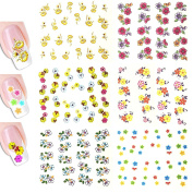 AllyDrew Tropical Flowers Water Slide Nail Art Decals Water Transfer Nail Decals