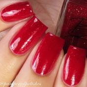 Bella Bosio Long Lasting 5 Free Hand Crafted Nail Polish - Autum Rubies - Dark Red Fall Polish with Gold Flakes
