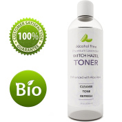 Lavender Witch Hazel Toner with Aloe Vera for Skin Face and Scalp – Alcohol Free Mild Astringent to Gently Cleanse Skin Refine Pores and Combat Acne - Anti Ageing Formula – Cruelty Free by Honeydew