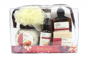 Deluxe Spa Travel Body Pack Gift Set Cranberry Moro Orange