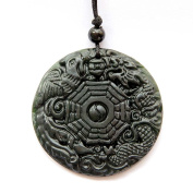 Happy Lucky Dragon Phoenix Taiji 8-Diagram Amulet Pendant clear silicone mould,size 47x47mm. Free Economy Shipping