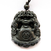 Happy Lucky Double Pixiu Pi Xiu Dragons Money Amulet Pendant clear silicone mould.Size 39x30mm.