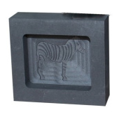 500 Gramme Gold Bar Graphite Ingol Mould with Image of Zebra