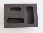OTOOLWORLD Graphite Ingot Mould 1/4 1/2 30ml Gold Melting Casting Refining also silver