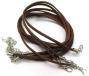 ALL in ONE 10pcs Faux Leather Suede Cord Necklace with Lobster Clasp Extended Chain