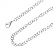 """HooAMI Stainless Steel 3.5mm Round Circle Cable Chain Necklace 20"""""""