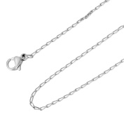 HooAMI Mens Womens Stainless Steel Link Chain Necklace 50cm
