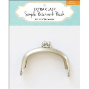 Extra Clasp For Simple Patchwork Pouch-Silver 3.8cm x 6.4cm