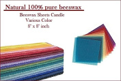 Beeswax Sheets Various Colour 100% Pure Candlemaking 10 Honeycomb Sheets