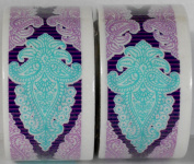 2 Rolls Lavender & Turquoise Paisley Patterned Duct Tape