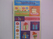 Miss ElizabethBirthday Embossed Stickers