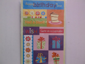 Miss ElizabethBirthday Embossed Stickers