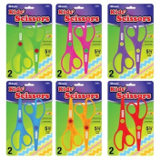 Bazic 14cm . Fluorescent Safety Scissors44; Pack of 2 - Case of 24
