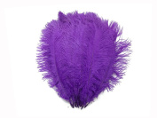 Ostrich Feathers | Ostrich Drab Wholesale Feathers (Bulk) - 0.2kg Purple, 23cm - 33cm