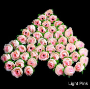 LAYs Craft Roses Silk Flower Artificial 50Pcs for Wedding Party Home Decor