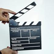 Wooden Director Video Scene Clapperboard by Pixco Film Movie Slateboard Cut Prop Promotion Size Large 30cm x 27cm (Black)