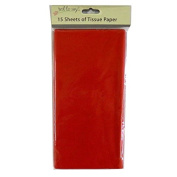 Coloured Large Tissue Paper - Red - 15 Sheets, 8.1m x 6m