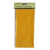 Coloured Large Tissue Paper - Burnt Orange - 15 Sheets, 8.1m x 6m