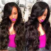 Souncy Grade 7a Unprocessed Brazilian Body Wave Hair 3 Bundles, 100% Human Hair Weave Extensions, Can Be Dyed and Bleached