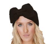 Qandsweet Women's Elastic Head Wrap Winter Bow Headband Boutique