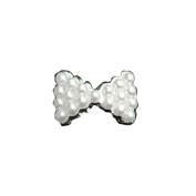 BESTIM INC(TM.  10Pcs 3D Pearl Bow Tie DIY Decorations Nail Art Glitters Stickers