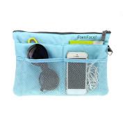 GREENERY*/ Handbag Pouch Bag in Bag Organiser Tidy Travel Cosmetic Pocket,Travel Storage Mesh Bag Organiser iPad Case