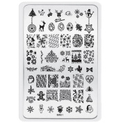 Kingfansion Christmas Pattern DIY Nail Art Image Stamp Stamping Plates Manicure Template